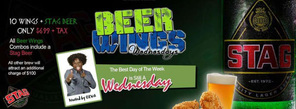 A-Bar Beer Wings Wednesday