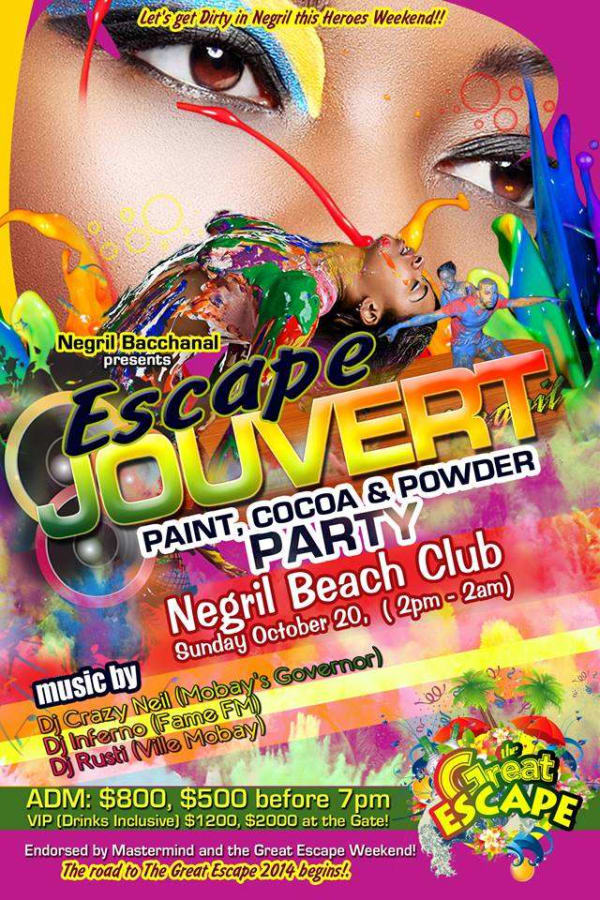 ESCAPE JOUVERT - Cocoa, Paint, Mud and Powder Party - Events' Realm