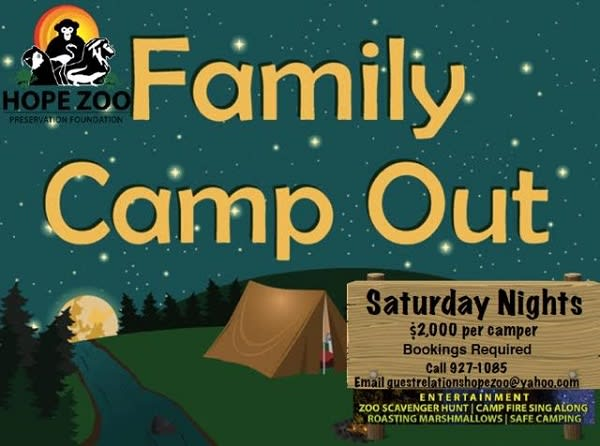 Hope Zoo Family Camp Out